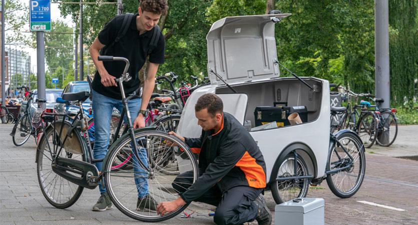 Transportfahrrad Servicetechnikern