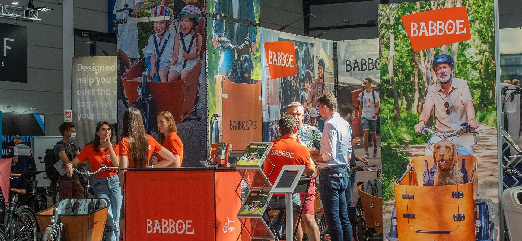 Babboe auf der Eurobike, der größten Fahrradmesse Europas