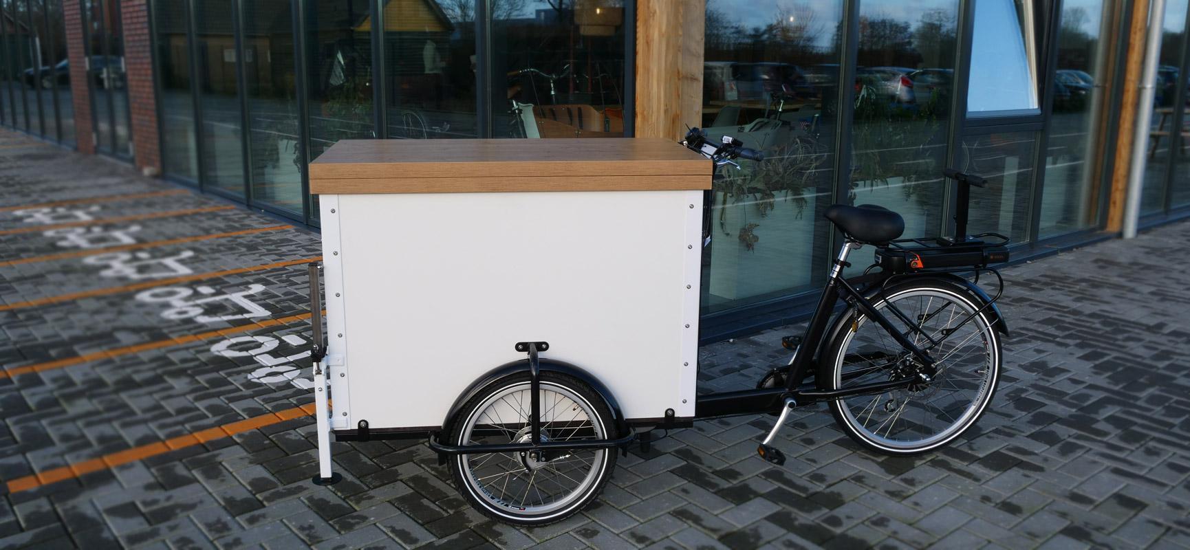 Ein Lastenrad für Kaffee- und Eisverkauf