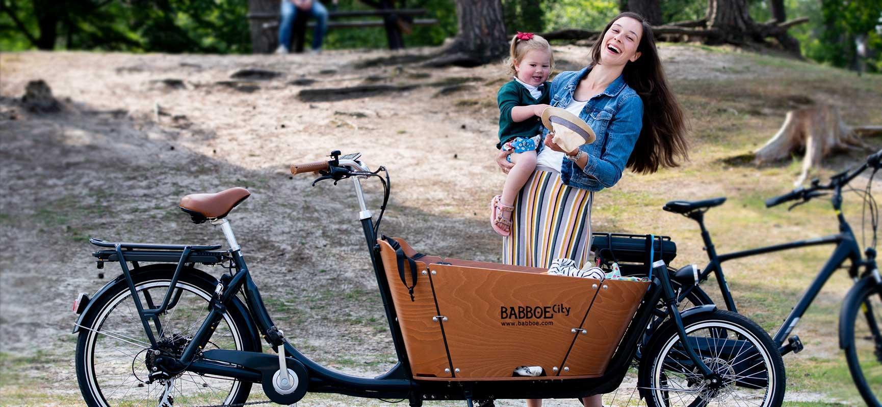 Lastenrad Familienausflug