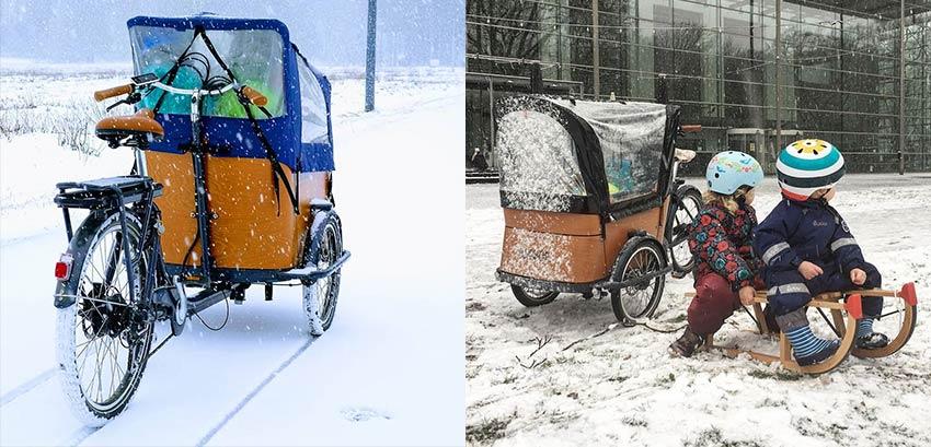 Tipps Lastenfahrrad im Schnee