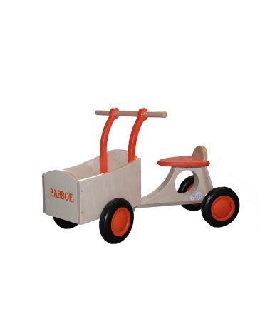 Babboe Lastenfahrrad Laufrad Holz orange