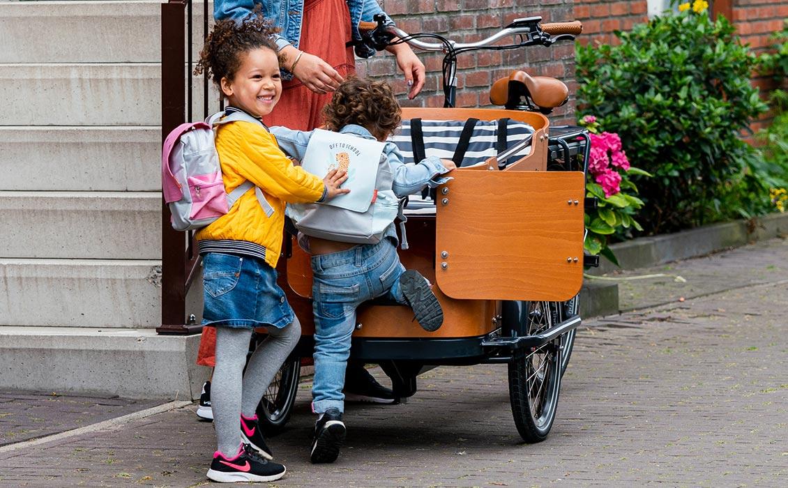 Lastenfahrrad Hund und Familienfahrrad - Praktische Tür in der Transportbox